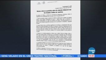 México reitera su posición sobre la relación bilateral con Estados Unidos