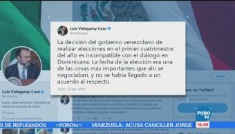 México se retira de dialogo entre Gobierno y oposición venezolana