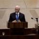 Mike Pence habla ante el Parlamento israelí. (AP)