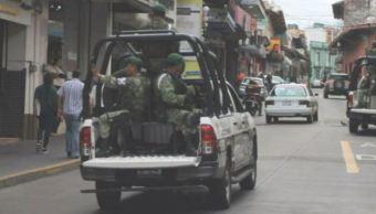 Militares llegan a Xalapa, Veracruz, para reforzar seguridad
