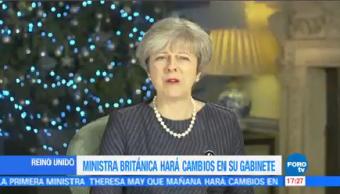 Ministra Británica Cambios Gabinete Primera Theresa May