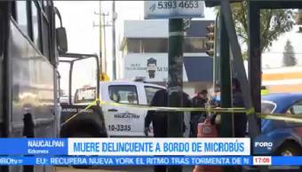 Muere Asaltante Microbús Naucalpan Estado México