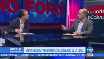 Narrativa precandidatos CDMX Agenda Pública Mario Campos Claudio Flores