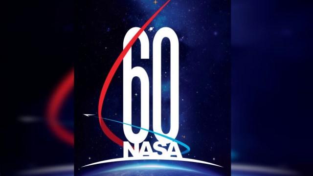 NASA presenta logotipo conmemorativo para su 60 aniversario