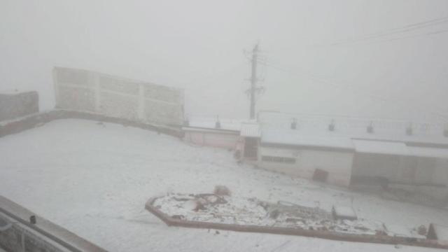 Nevada cubre Cofre de Perote y el Pico de Orizaba, en Veracruz