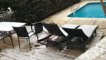 Ola de frío en EU lleva nieve a Tallahassee, Florida