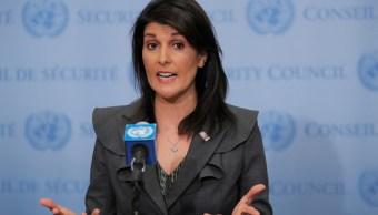 La embajadora de Estados Unidos ante las Naciones Unidas, Nikki Haley