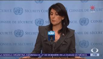 Nikki Haley Pide Aumentar Sanciones Contra Norcorea
