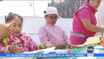 Niños Dejan Cartas Reyes Magos Buzón Zócalo CDMX