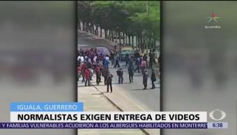 Normalistas atacan sede del poder judicial de Guerrero, en Iguala