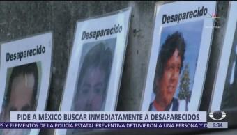 ONU pide a México reforzar búsqueda de desaparecidos