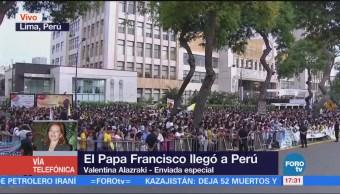 Papa Francisco recorre las calles de Lima