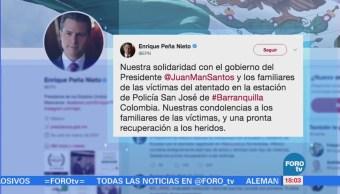 Peña Nieto expresa solidaridad a Ecuador y Colombia por atentados