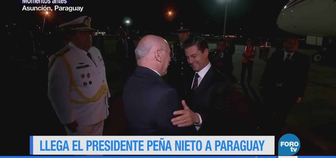 Enrique Peña Nieto llega a Paraguay