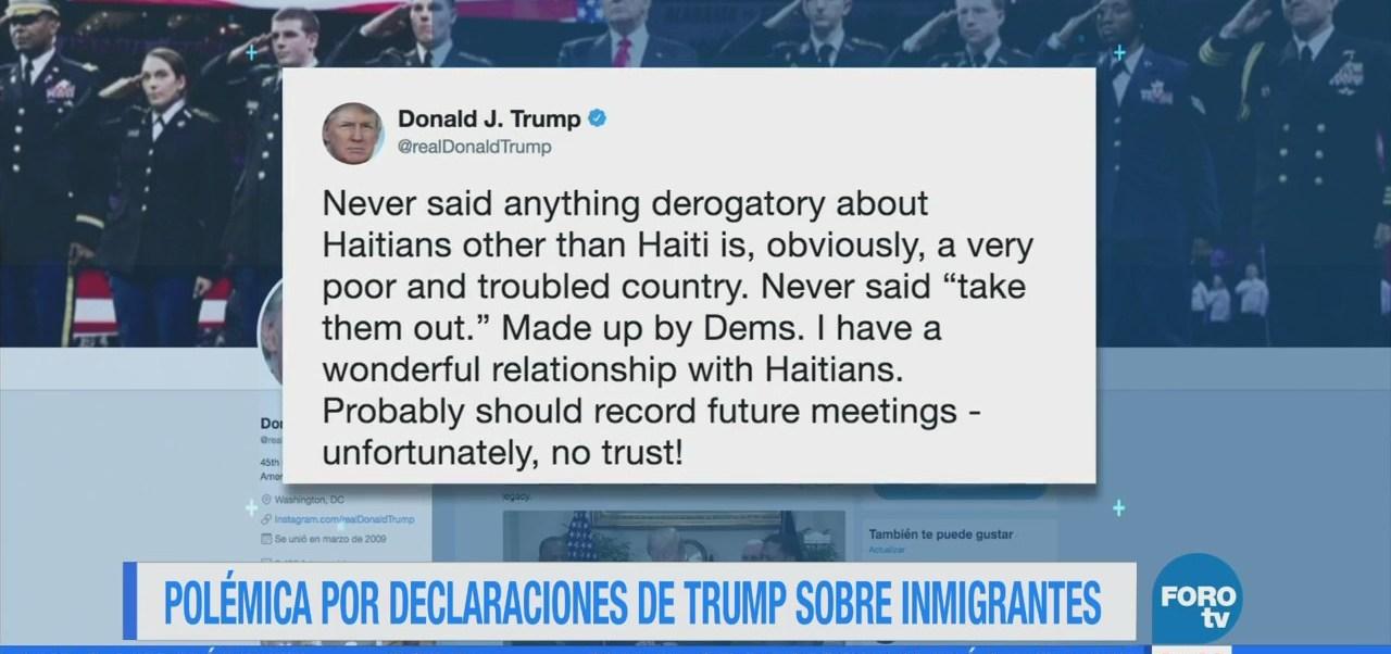 Polémica por palabras despectivas de Trump sobre inmigrantes
