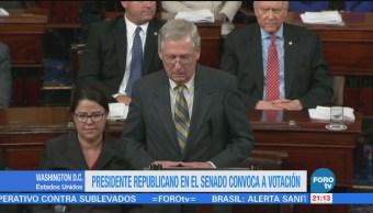 Presidente Republicano Senado Convoca A Votación