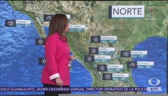 Prevén marcado descenso en la temperatura en estados del norte