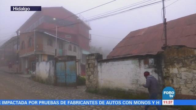 Pronostican heladas y caída de aguanieve en Hidalgo