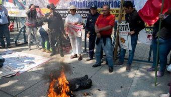 protestan en cdmx por aniversario de donald trump en la casa blanca