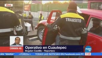 Realizan Operativo Seguridad 600 Efectivos Cuautepec Gam