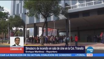 Realizan Simulacro Incendio Cine Colonia Tránsito Cdmx