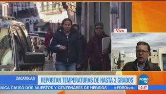 Registran 3 grados bajo cero al norte de Zacatecas