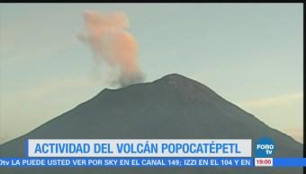 Reinician Emisiones Vapor Gases Popocatépetl