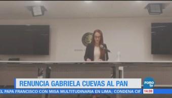 Renuncia Gabriela Cuevas al PAN