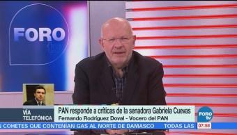 Réplica del PAN a la entrevista de Gabriela Cuevas en Estrictamente Personal