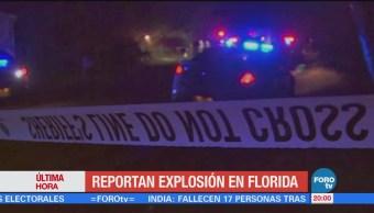 Reportan explosión en centro comercial de Florida