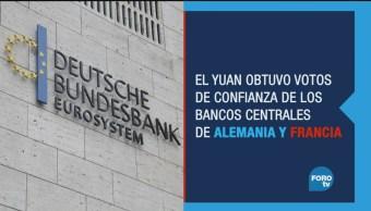Reservas internacionales apuestan por el Yuan