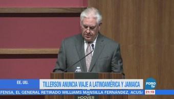 Rex Tillerson viajará en febrero a México
