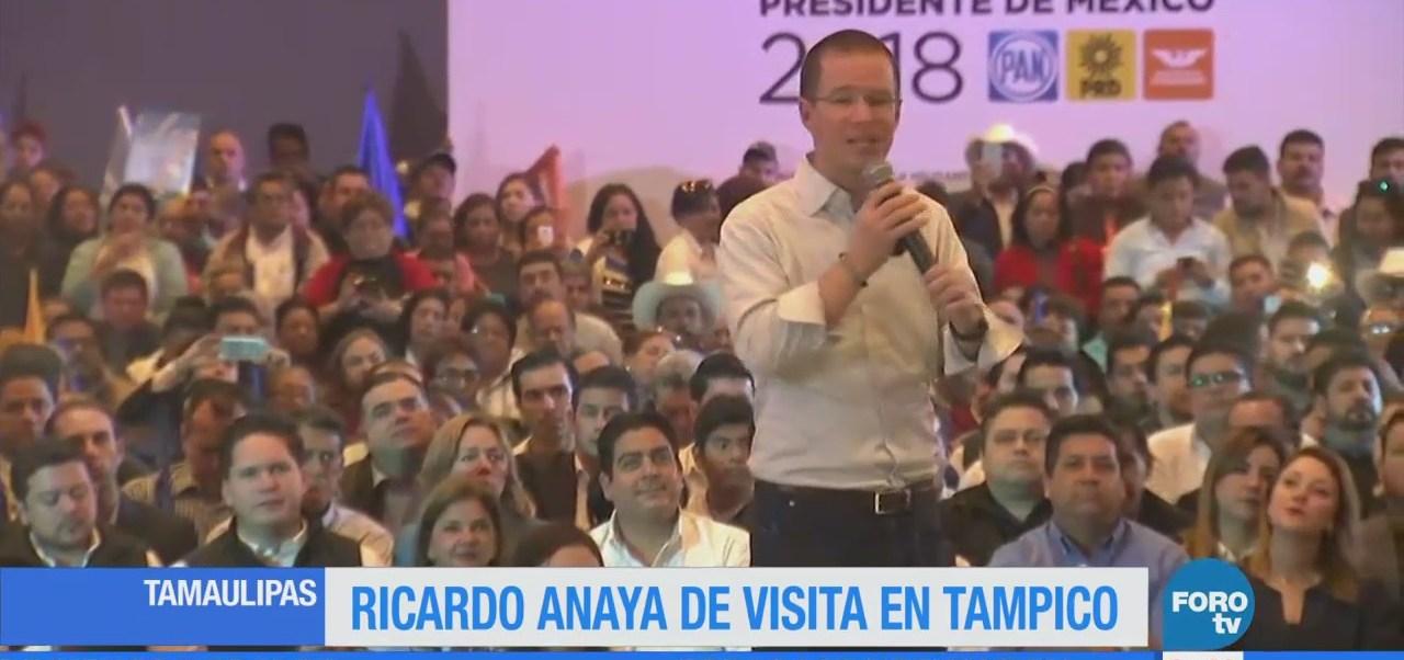 Ricardo Anaya de visita en Tampico, Tamaulipas