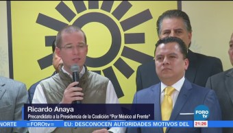 Ricardo Anaya visita sede nacional del PRD