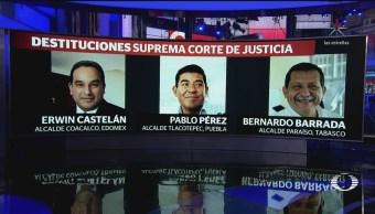 SCJN destituye a otros dos alcaldes