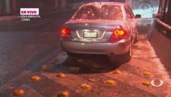 Detienen Vehículos Caída Aguanieve México-Toluca