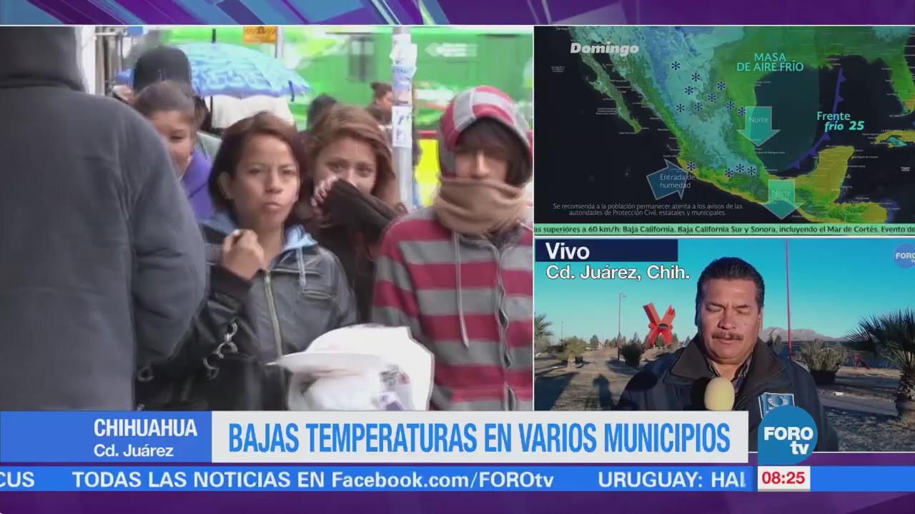 Se registran bajas temperaturas por frente frío en Chihuahua