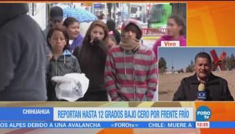 Se reportan temperaturas bajo cero en Ciudad Juárez
