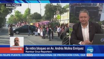 Restablece Circulación Andrés Molina Bloqueo Padres Familia