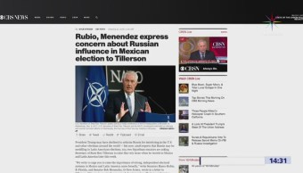 Senadores de EU advierten sobre injerencia rusa en México, según CBS