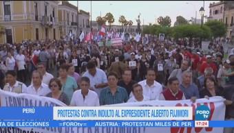 Siguen protestas contra indulto a Fujimori