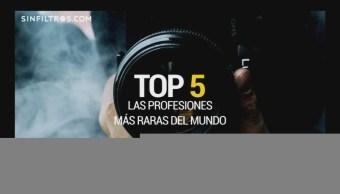 Sin Filtros: top 5 de las profesiones más desconocidas
