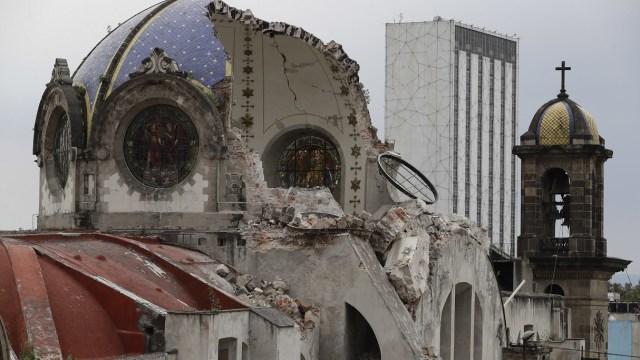 sismos septiembre danaron 1850 templos catolicos 11 estados mexico