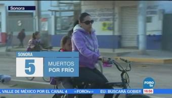 Sonora confirma muerte de cinco personas por bajas temperaturas