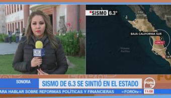 Se percibe en Sonora el sismo con epicentro en BCS