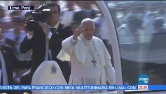 Termina visita del Papa en Perú
