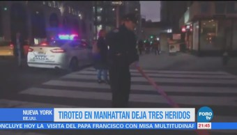 Tiroteo en Manhattan deja tres heridos