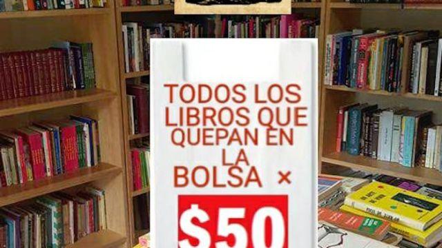 Gran remate: Todos los libros que entren en tu bolsa por $50