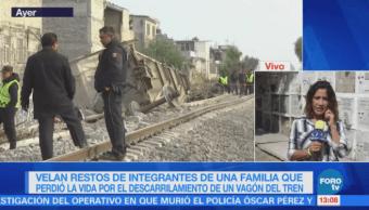 Velan a familia fallecida por descarrilamiento de tren en Ecatepec