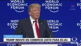 Trump aboga por un sistema de comercio internacional justo